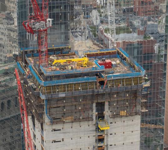 Građevinska jezgra gradi se pomoću Doka Super Climber sustava i to po jedan kat u tjednom taktu. Foto: Doka